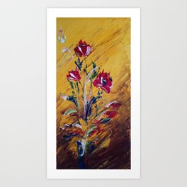 Red Poppies in a Vase Art Print