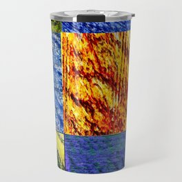 Patchwork color gradient and texture 1 Travel Mug