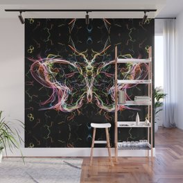 Radiant lighting butterfly Wall Mural