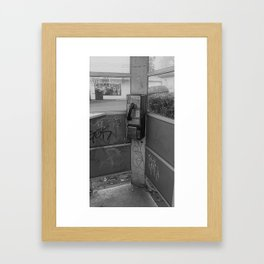 Where have all the pay phones gone? #7 Framed Art Print