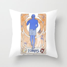 Tobias Art Nouveau Throw Pillow