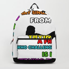 best friend quote present Backpack
