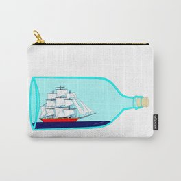 A Ship in a Bottle Carry-All Pouch