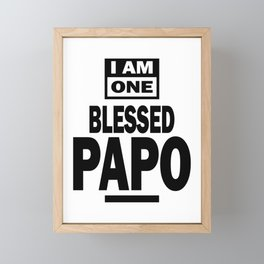 Mens I Am One Blessed Papo Fathers Day Gift Framed Mini Art Print