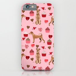 Irish Terrier dog breed valentines day love hearts pet gifts must have terriers iPhone Case