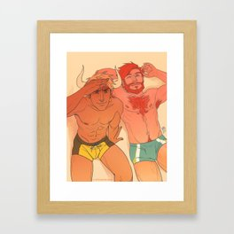 Heavy Horns - Beach Bums Framed Art Print