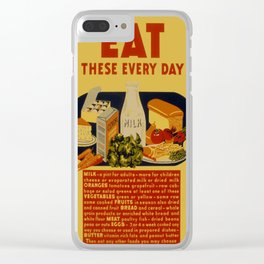 Vintage poster - Eat These Every Day Clear iPhone Case