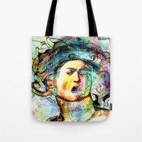 mythology Tote Bags featuring Mythology by Ganech joe