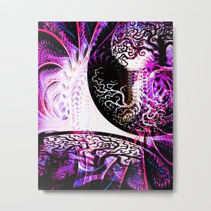 Opposition - Purple - ILL Design - Roth Gagliano Metal Print