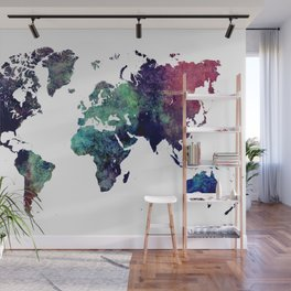 Map of the World After Ice Age Wall Mural
