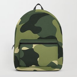 Camouflage Camo Green Tan Pattern Backpack