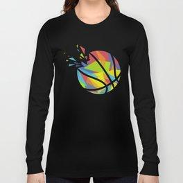 Basketball Explosion Triangle Long Sleeve T-shirt