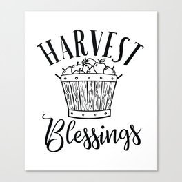 Harvest Blessings Canvas Print
