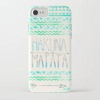 hakuna iPhone & iPod Cases featuring Hakuna Matata by Sara Eshak