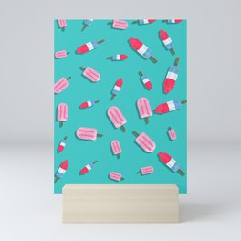 Popsicles and Firecrackers Pattern  Mini Art Print
