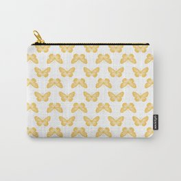 Monarch Butterfly Bright Yellow Carry-All Pouch