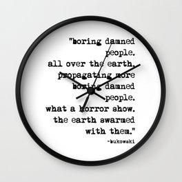 Charles Bukowski Typewriter Quote People Wall Clock
