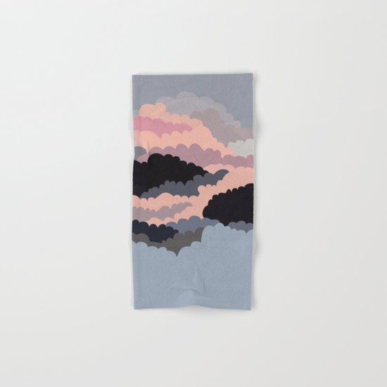 Magic Sunset Clouds On The Sky Hand & Bath Towel