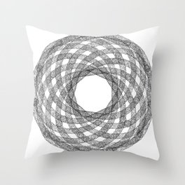 GEOMETRIC NATURE: HELIX w/b Throw Pillow
