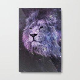 Galaxy Lion Leo Metal Print