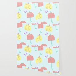 If We Are Together - colorful illustration pastel color umbrella pattern nursery Wallpaper