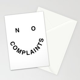 No Complaints Black + White Stationery Cards