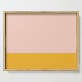 Millennial Pink and Mustard Yellow Minimalist Color Block Serving Tray