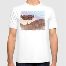 Retro Palo Duro Canyon White Mens Fitted Tee MEDIUM