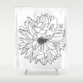 Dahlia 1 Shower Curtain