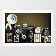 Vintage Camera Collection Art Print