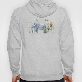 Elephants On Parade Illustration - Bagaceous Hoody