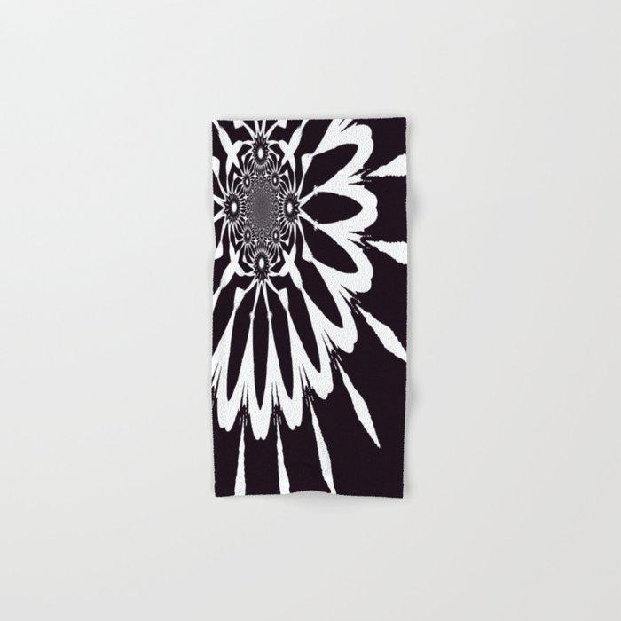 The Modern Flower Black & White Hand & Bath Towel