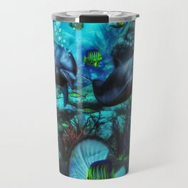 Dolphin's Under The Sea 2 Travel Mug