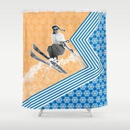 Ski Like a Girl Shower Curtain