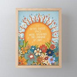 The language of light Framed Mini Art Print