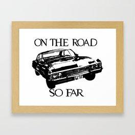 On the road so far  Framed Art Print