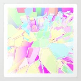 Colorful Crystals Art Print
