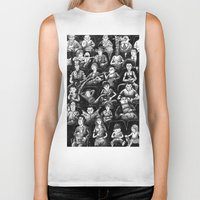 movies Biker Tanks featuring At The Movies by Doodles n' Things
