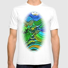 SPRING KINGDOM Mens Fitted Tee White MEDIUM