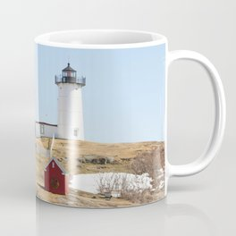 Nubble Light House At Christmas Coffee Mug