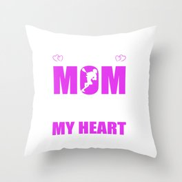 Lacrosse Moms Full Heart Mothers Day T-Shirt Throw Pillow
