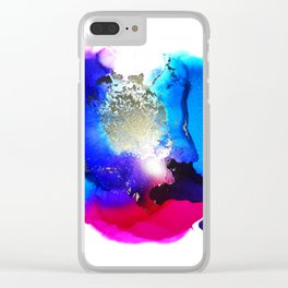 Liquid Petunia Clear iPhone Case