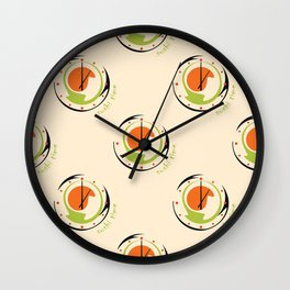 seamless pattern with abstract sushi clock for kitchen Wall Clock