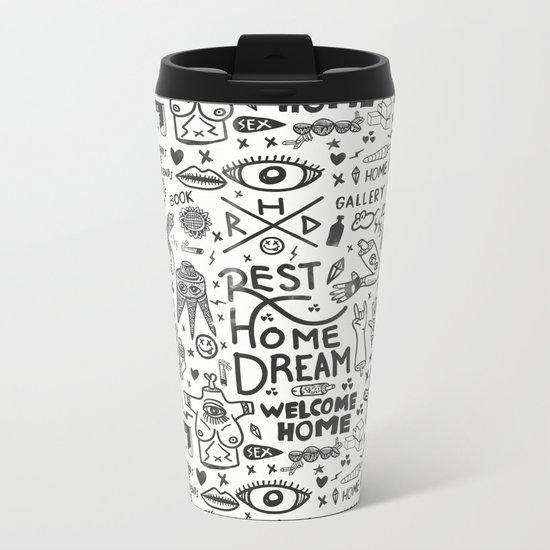 REST HOME DREAM Metal Travel Mug