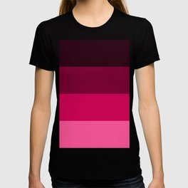 Red Horizontal Stripes Design T-shirt