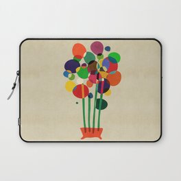 Happy flowers in the vase Laptop Sleeve