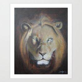 Felis Leo Art Print
