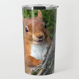Nature woodland animals smiling squirrel Travel Mug