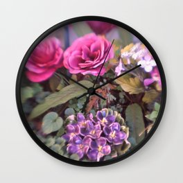 MISTY PETALS Wall Clock