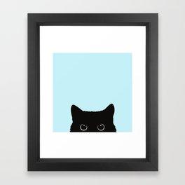 Black cat I Framed Art Print